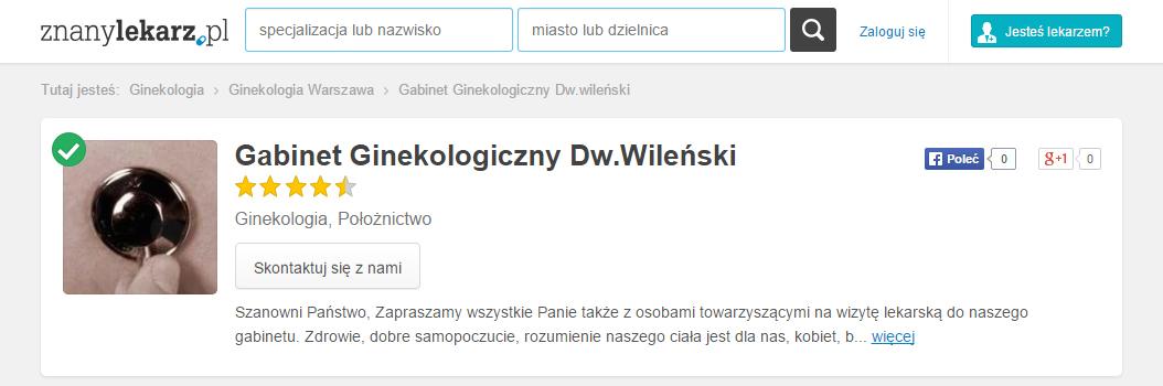 Poradnia Lekarska przy Dworcu Wileński na ZnanyLekarz.pl